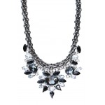 Dark Romance Crystal Stone Bloom Necklace