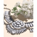 Ritz Rhapsody White Stone Art Deco Necklace