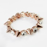 Rose Gold Crystal Spikes Bracelet