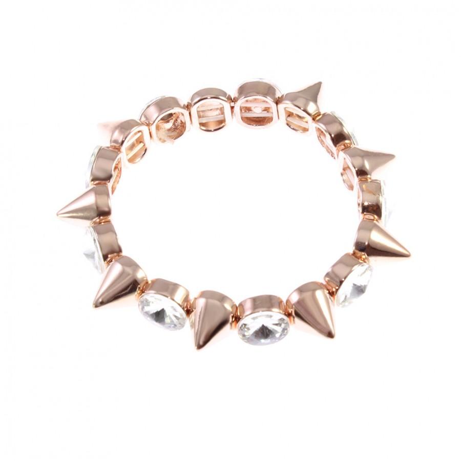 Rose Gold Crystal Spikes Bracelet