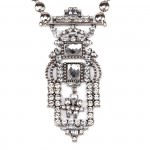 Aztec Diamante Art Deco Multi Strand Necklace