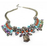 Glam Aurora Borealis Multicolored Necklace