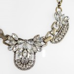 Iced Marquise Crystal Encrusted Statement Necklace