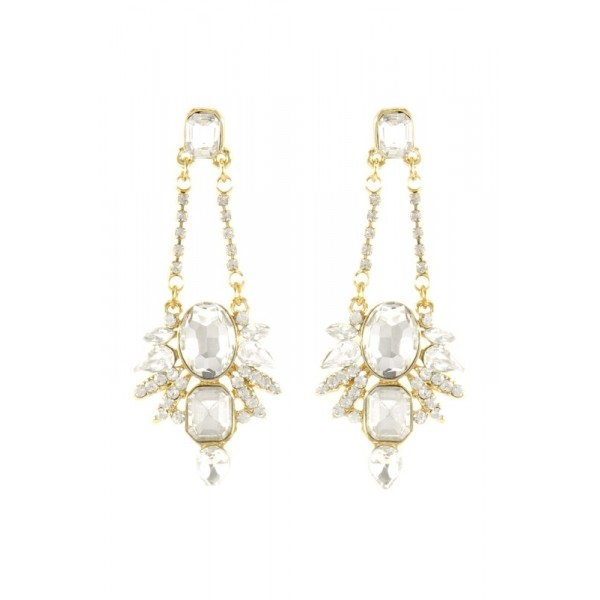 Mira Crystal Spike Dangle Earrings