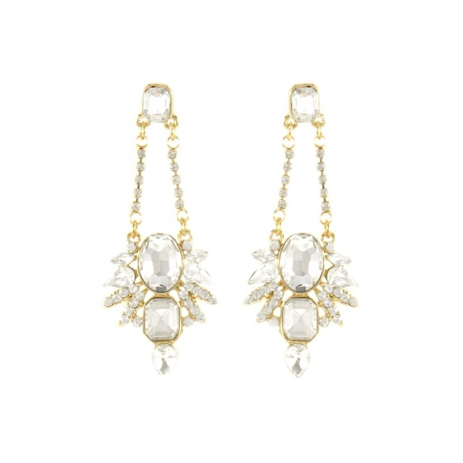 Mira Crystal Spike Dangle Earrings