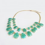 Emerald Marble Teardrop Double Row Necklace