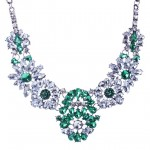 Apolonia Emerald Crystal Jewel Bloom Necklace