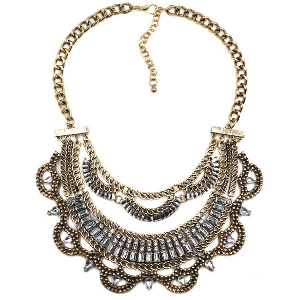 Crystal Isidore Glam Bib Necklace