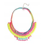 Multicolored Neon Marquise Burst Necklace