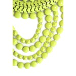 Neon Yellow Hand-painted Fringe Necklace