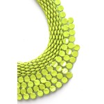 Neon Stone Tiered Chain Bib Necklace