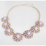 Dusty Lilac Cabochon Bloom Necklace
