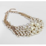 Ivory Pearl Cascade Statement Necklace