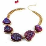 Naia Pixie Dust Quartz Stone Statement Necklace