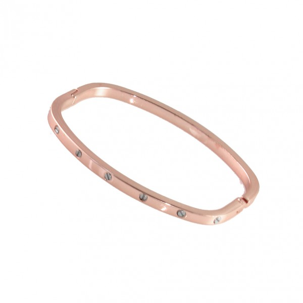 Rose Gold Screw Bolt Arm Candy Bangle