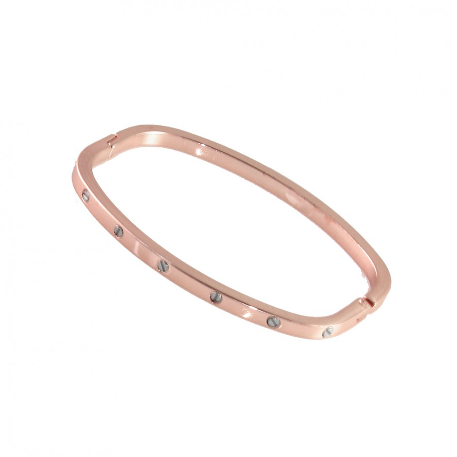 delicate dainty candy inlaid bolt screw elegant bracelet bangle rose square bangles arm gold