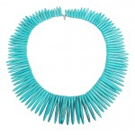 Aiyana Turquoise Spike Statement Necklace