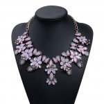 Dusty Rose Faceted Opal Marquise Statement Necklace