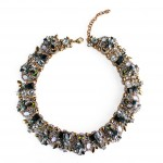 Seeki Aurora Borealis Crystal Cluster Statement Necklace