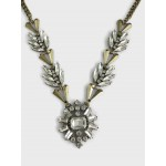 Ice Crystal Geo Wreath Pendant Necklace