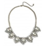 Silvio Crystal Art Deco Vintage Glam Bib Necklace