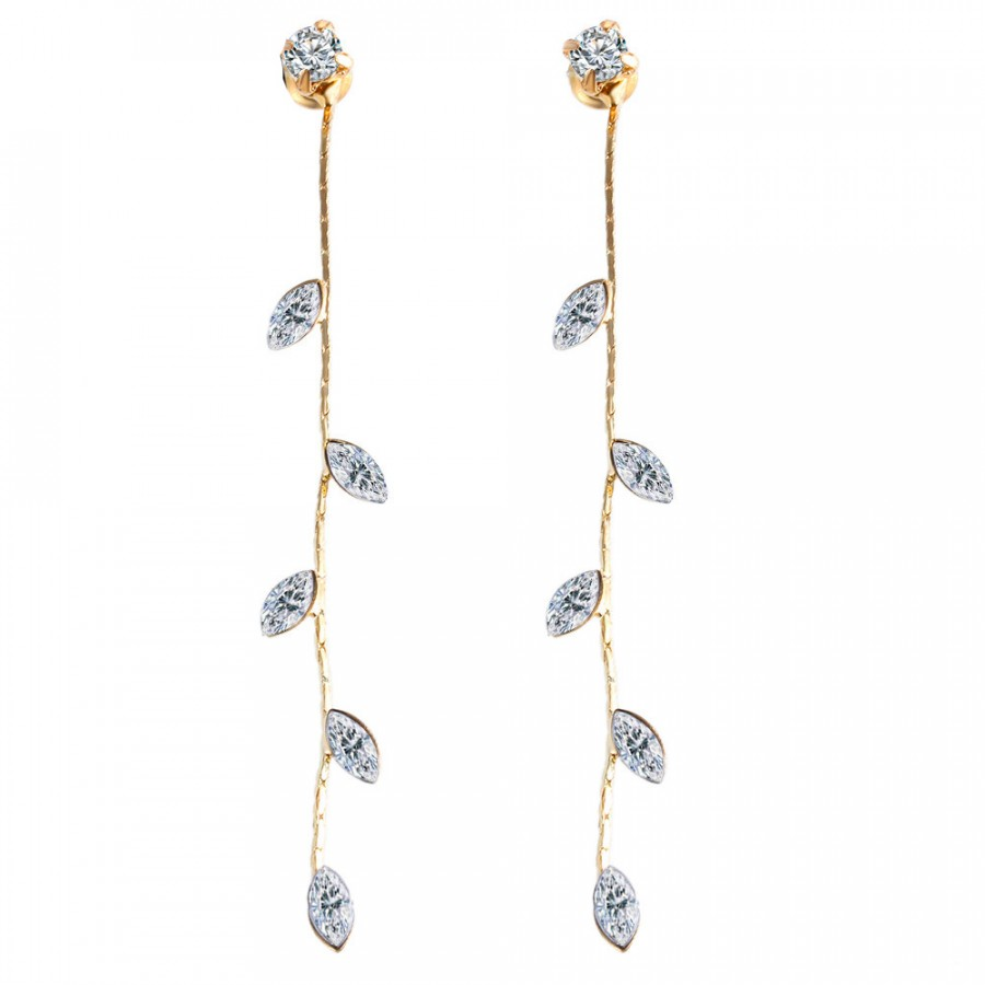 stud crystal dangle bridal media earrings swarovski drop