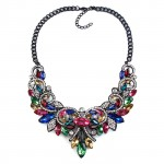 Krishna Jewel Toned Gemstones Statement Necklace
