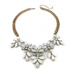 Aurora Ivory Opal Wreath Statement Necklace Set