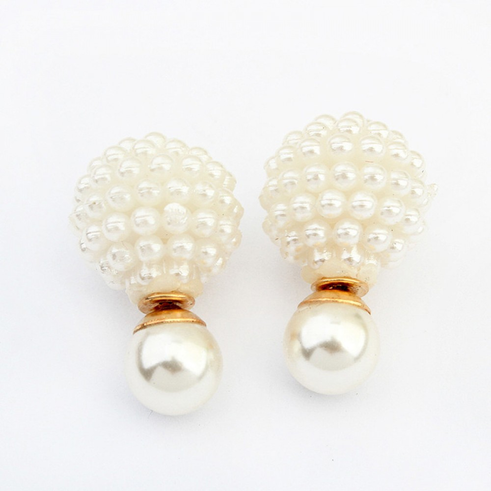 Ivory Pearl Pave Double Sided 360 Ivory Pearls Double