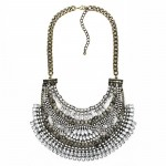 Amazon Crystal Art Deco Tiered Antique Bib Necklace