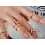 Pave Glam Midi Knuckle Ring Set