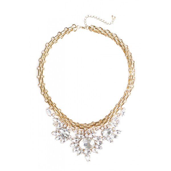 Crystal Joasia Floral Stone Burst Necklace