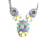 Mila Pastel Crystal Stone Clusters Necklace
