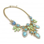 Lagoon Mint Aqua Bauble Burst Necklace