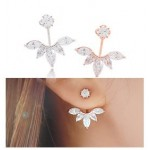 Rose Gold Marquise Flare Crystal Ear Jackets