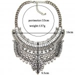 Atxi Art Deco Diamante Crystal Statement Necklace