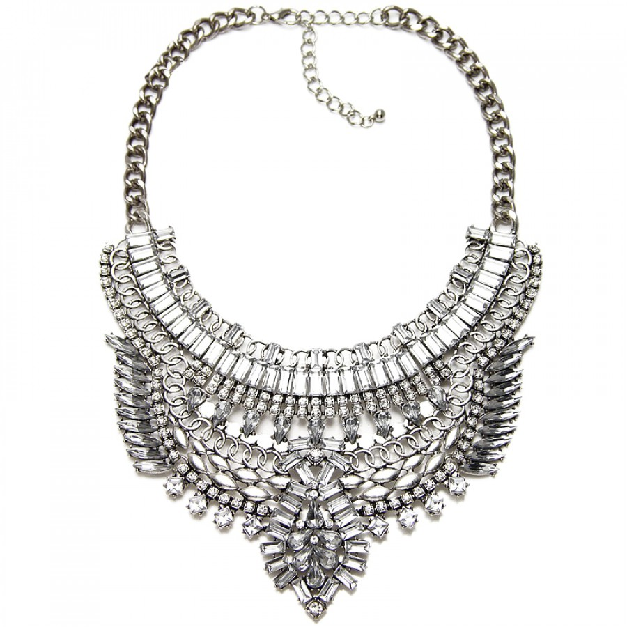 necklace p ezra stella mixed dot statement in metal