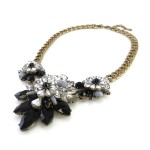 Apolonia Monochromatic Stone Flower Necklace