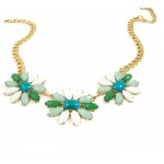 Leska Opal Faceted Bauble Flora Necklace