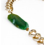 Jace Green Natural Agate Stone Chunky Necklace