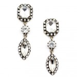 Aurora Crystal Clear Geo Elegant Earrings