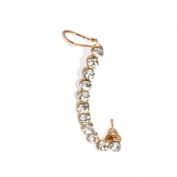 Crystal Row Arc Ear Cuff