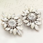 Nadia Ice Daisy Crystal Stud Earrings