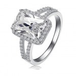 Declan Ice Rectangle CZ Double Band Ring