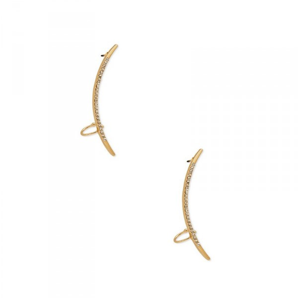 Pave Dainty Arc Ear Cuffs