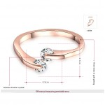 HADRIEL Double Crystal Rose Gold Plated Ring
