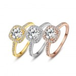 Isabelle Crystal Encrusted Swiss Zircon 18k Gold Plated Ring