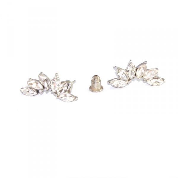 Crystal Lotus Marquise Ear Crawlers