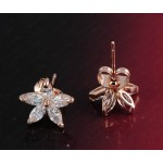 Dainty Daisy Austrian Crystal Stud Earrings