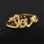 Little Love Crystal Line Double Sided Ring